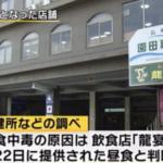 福岡修学旅行生の食中毒は博多ではなく、前日の昼食長崎「龍宴」!